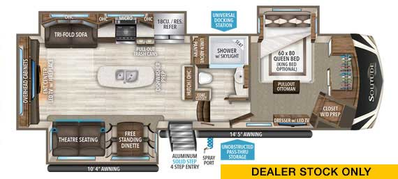 Grand Design Solitude 300GK Floorplan