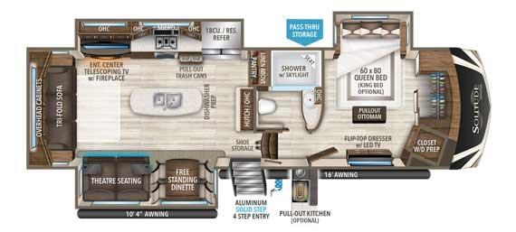 Grand Design Solitude 310GK Floorplan