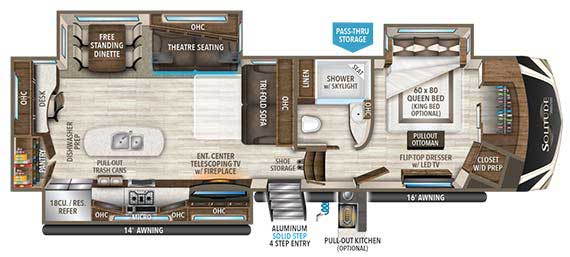 Grand Design Solitude 344GK Floorplan