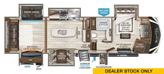 Grand Design Solitude 360RL Floorplan