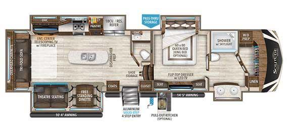 Grand Design Solitude 373FB Floorplan