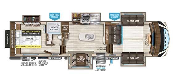 Grand Design Solitude 374TH Floorplan