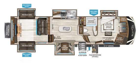 Grand Design Solitude 375RES Floorplan