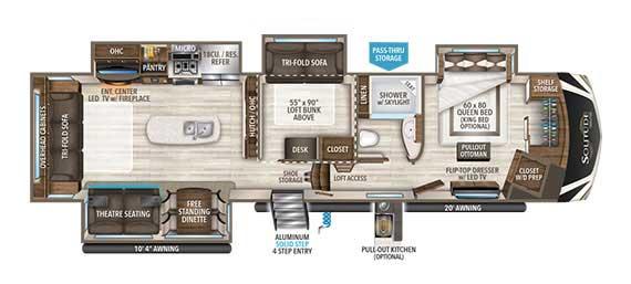Grand Design Solitude 377MBS Floorplan