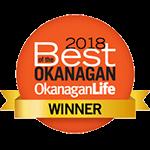 2018 Best of the Okanagan Winner Award