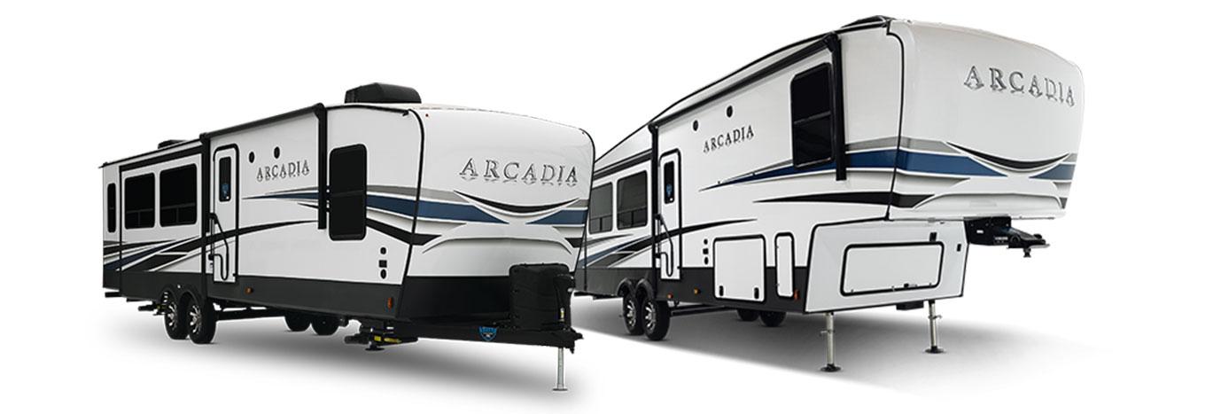 Keystone Arcadia Fifth Wheels and Travel Trailers