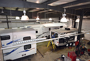 Service Department at Voyager RV