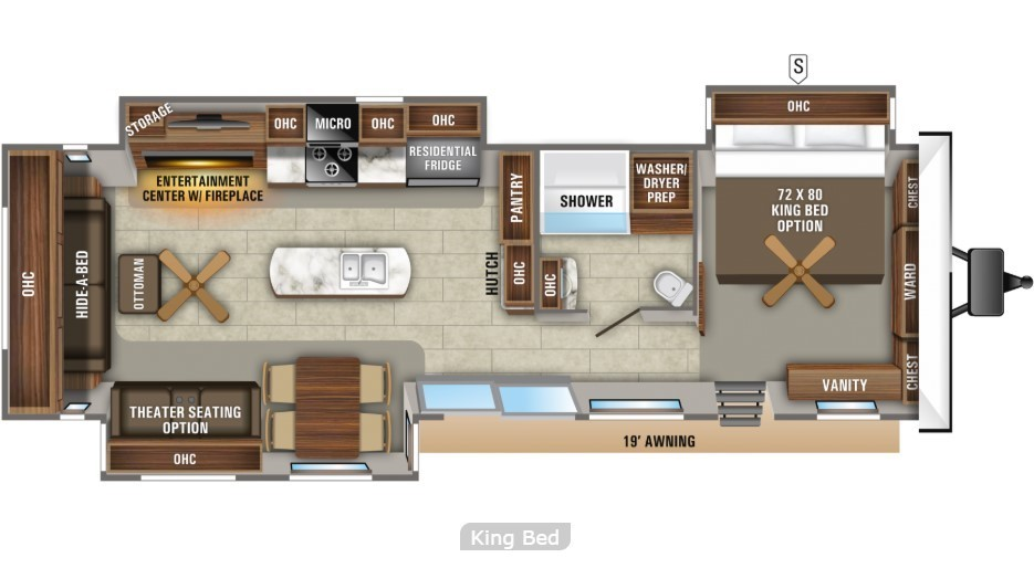 2021 Jayco Jay Flight 40RLTS Bungalow Floorplan