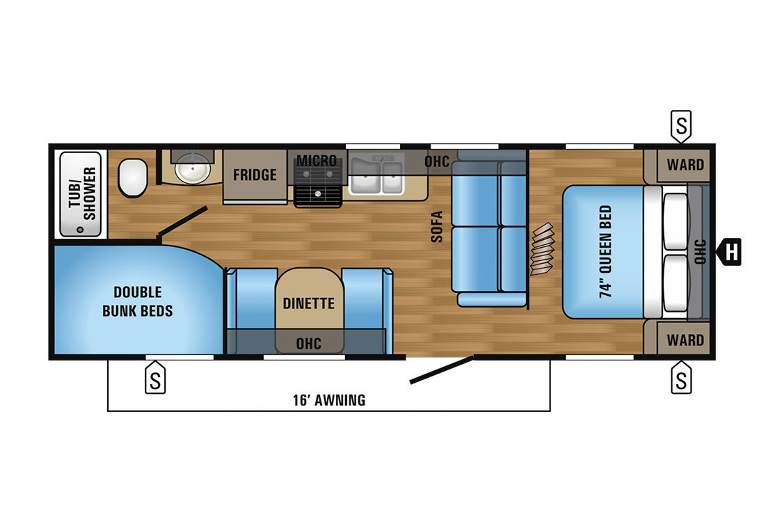 2017 Jayco Jay Flight 26BH Elite Floorplan