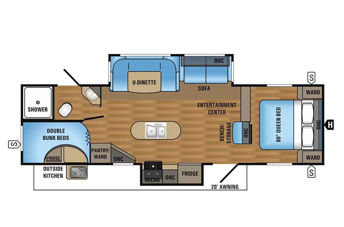 2017 Jayco Jay Flight 29BHDS Elite Floorplan