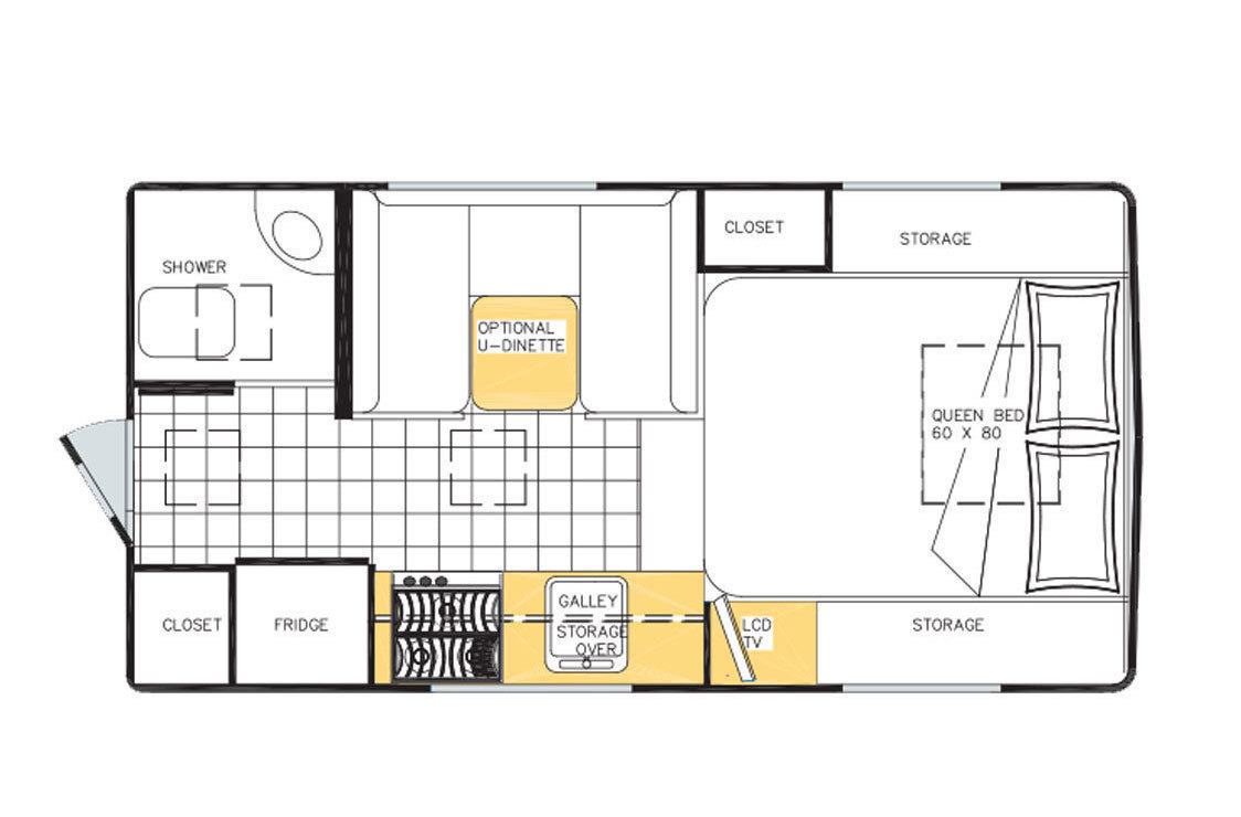 2017 Northern Lite Queen Classic 8.11 Special Edition Floorplan