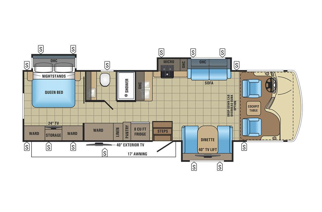 2017 Jayco Alante 32N Floorplan