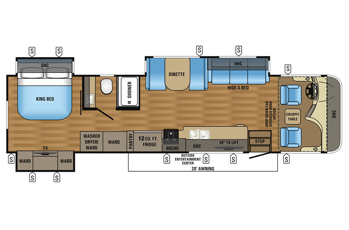 2017 Jayco Precept 35S Floorplan