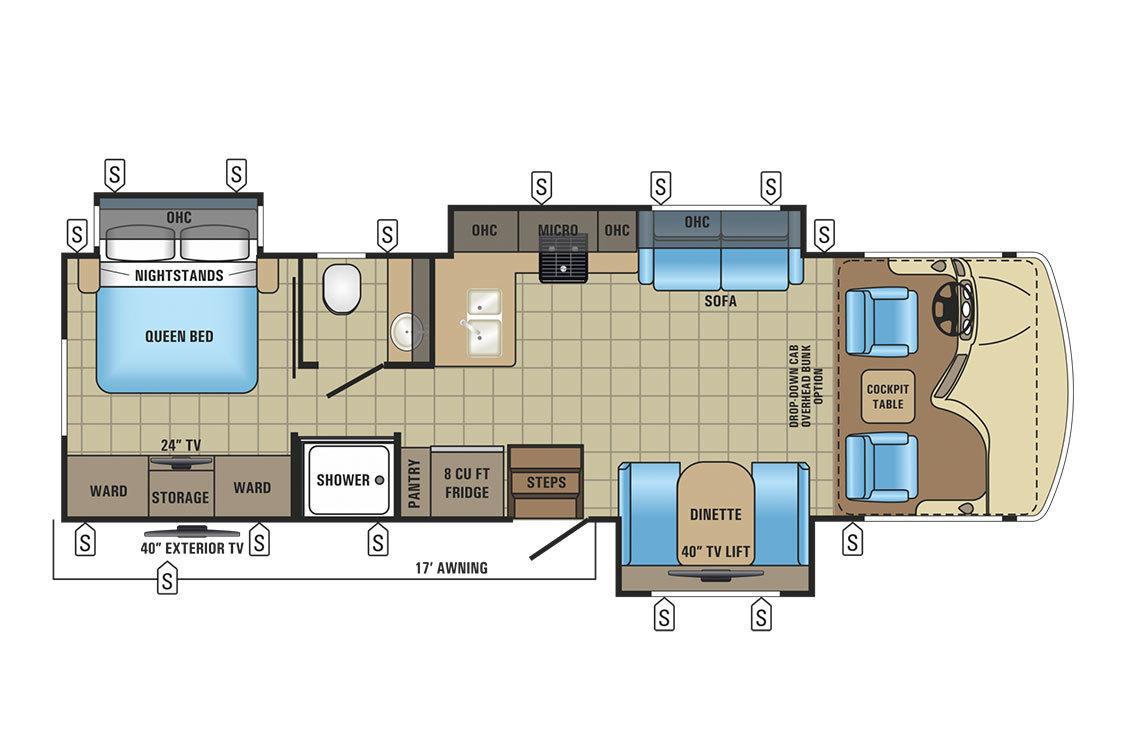 2017 Jayco Alante 31P Floorplan