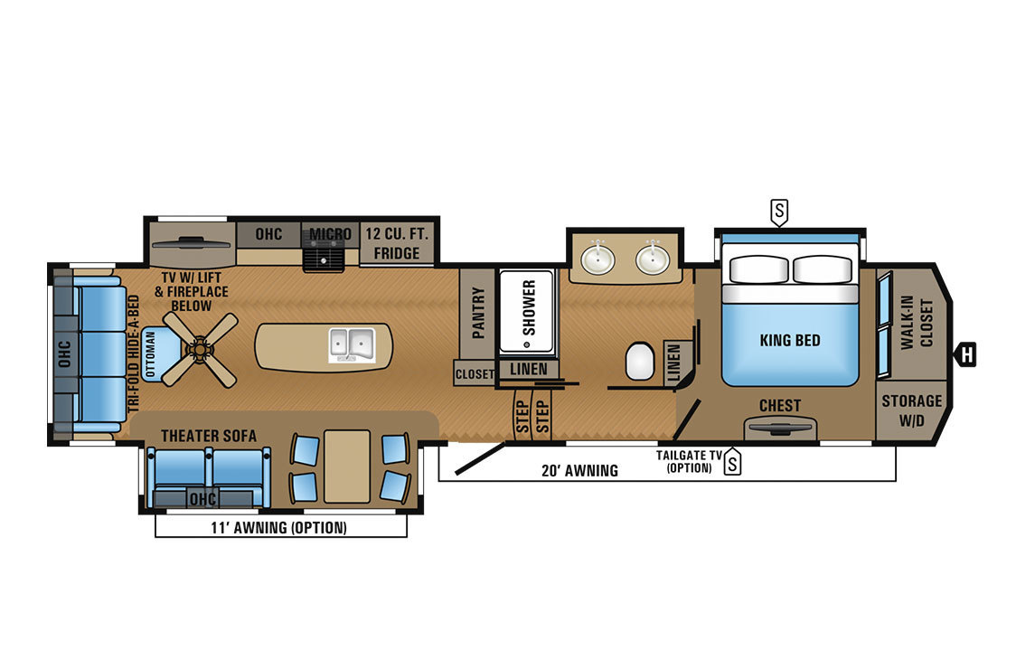 2017 Jayco North Point 381DLQS Floorplan