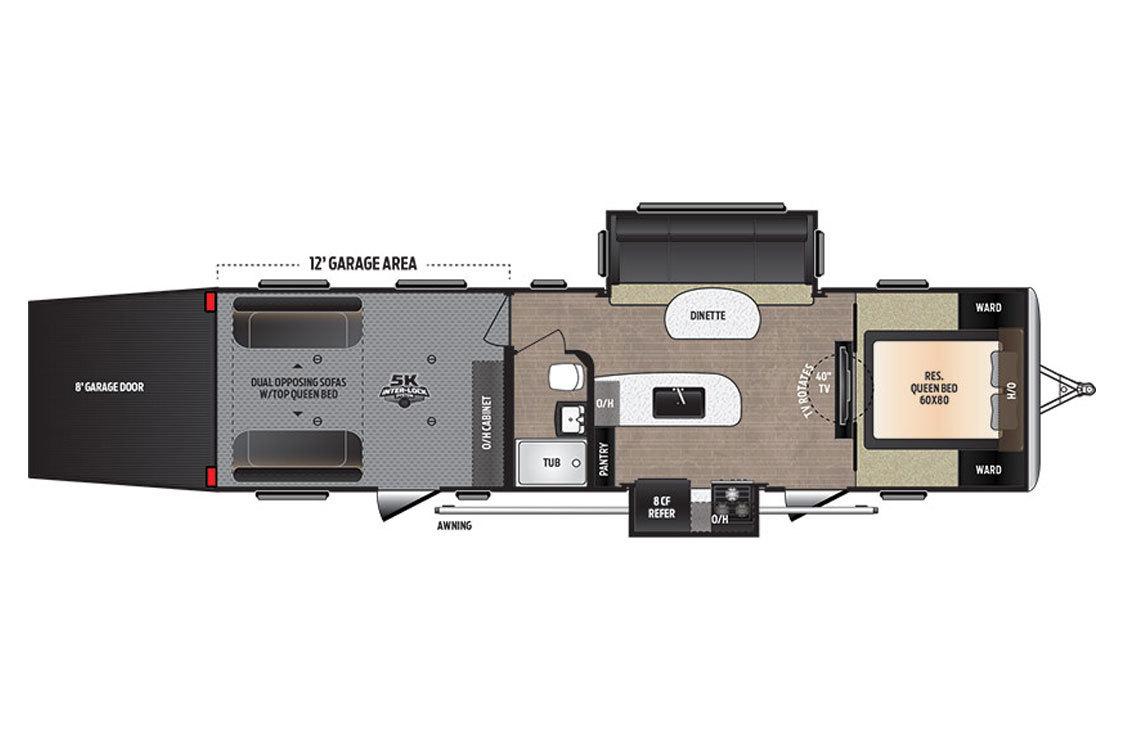 2018 Keystone Impact 312 Floorplan