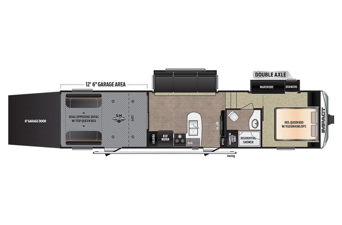 2017 Keystone Impact 351 Floorplan