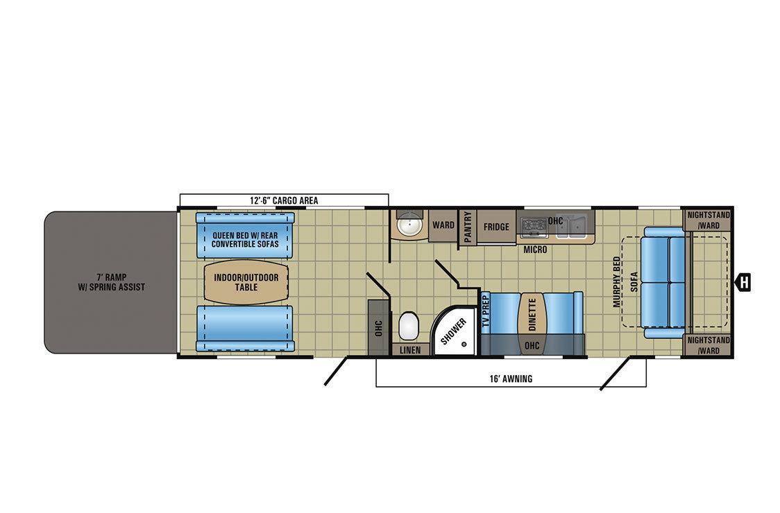 2017 Jayco Octane Super Lite 312 Floorplan