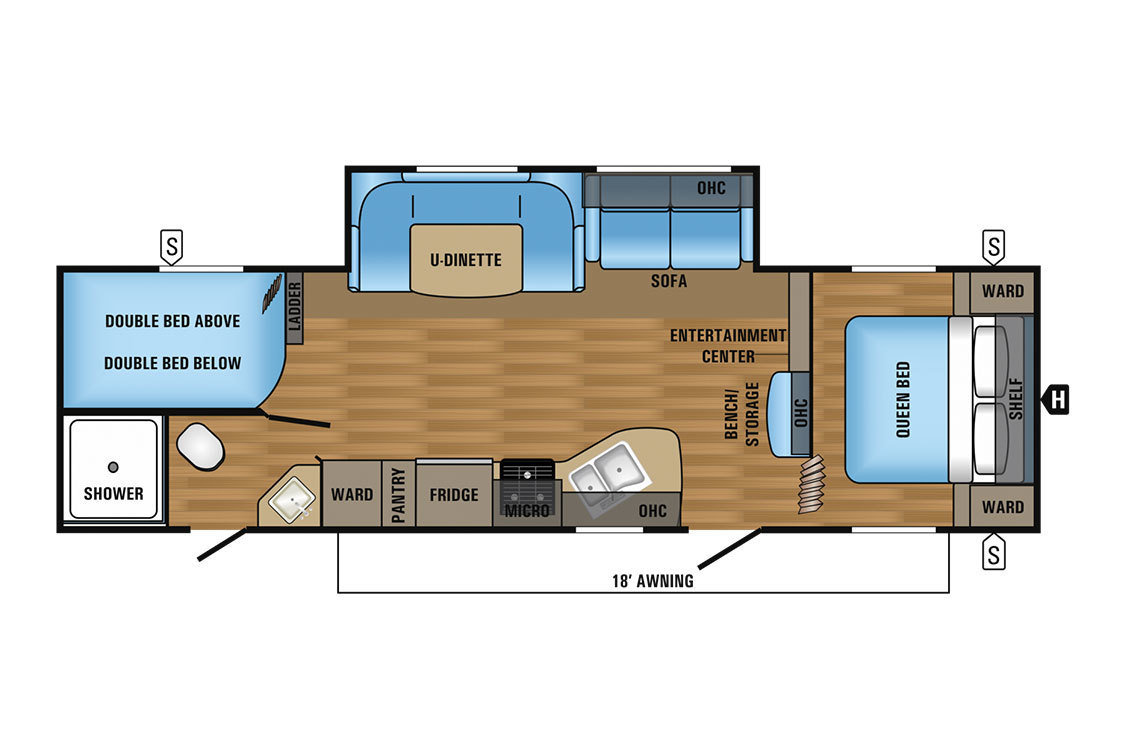 2017 Jayco Jay Flight SLX 287BHSW Baja Floorplan