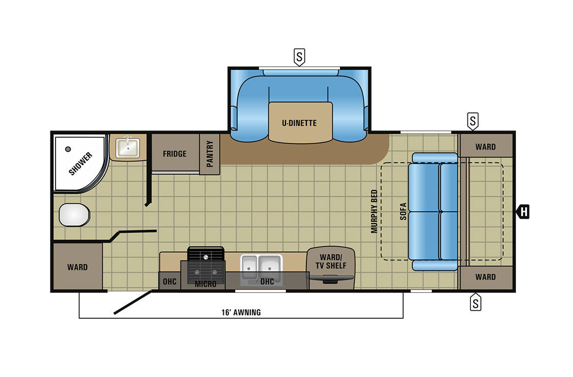 2017 Jayco Jay Feather 23RBM Floorplan