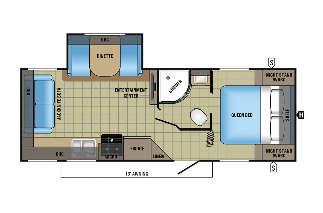 2017 Jayco Jay Feather 23RLSW Floorplan