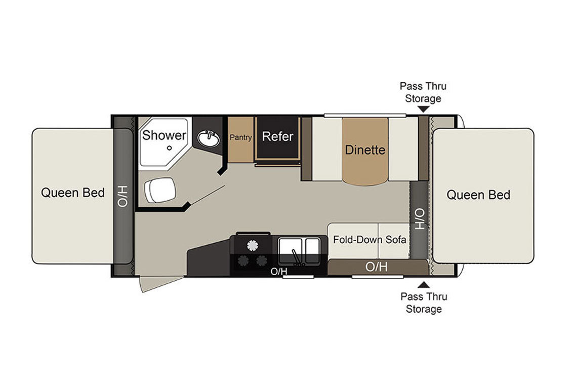 2017 Keystone Passport 171EXP Floorplan