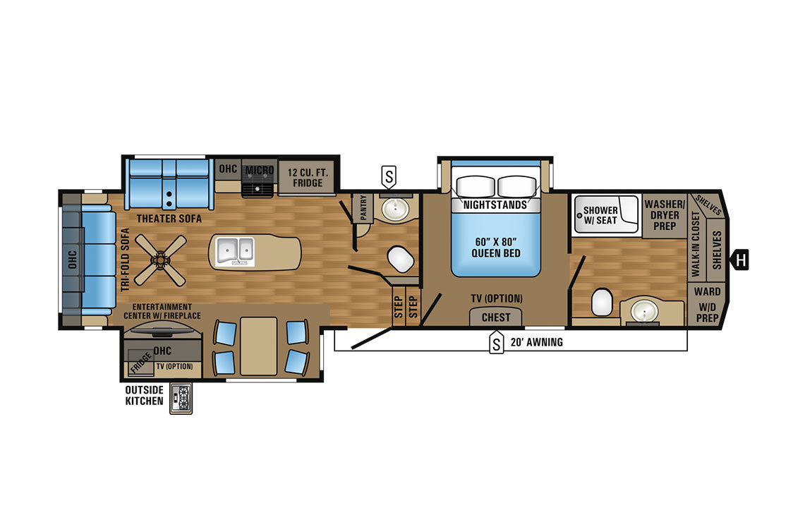 2017 Jayco Eagle 336FBOK Floorplan