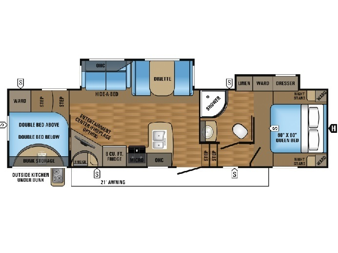 2017 Jayco Eagle HT 29.5BHDS Floorplan