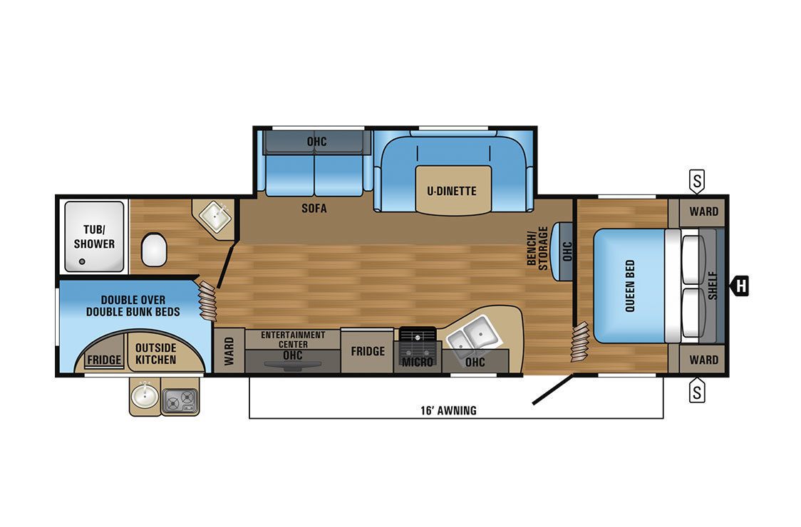 2017 Jayco Jay Flight SLX 284BHSW Floorplan