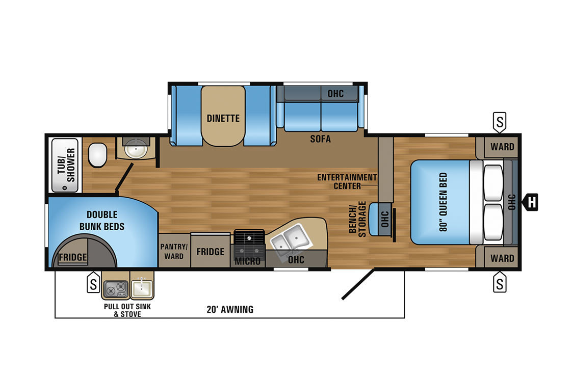 2017 Jayco Jay Flight 27BHS Elite Floorplan