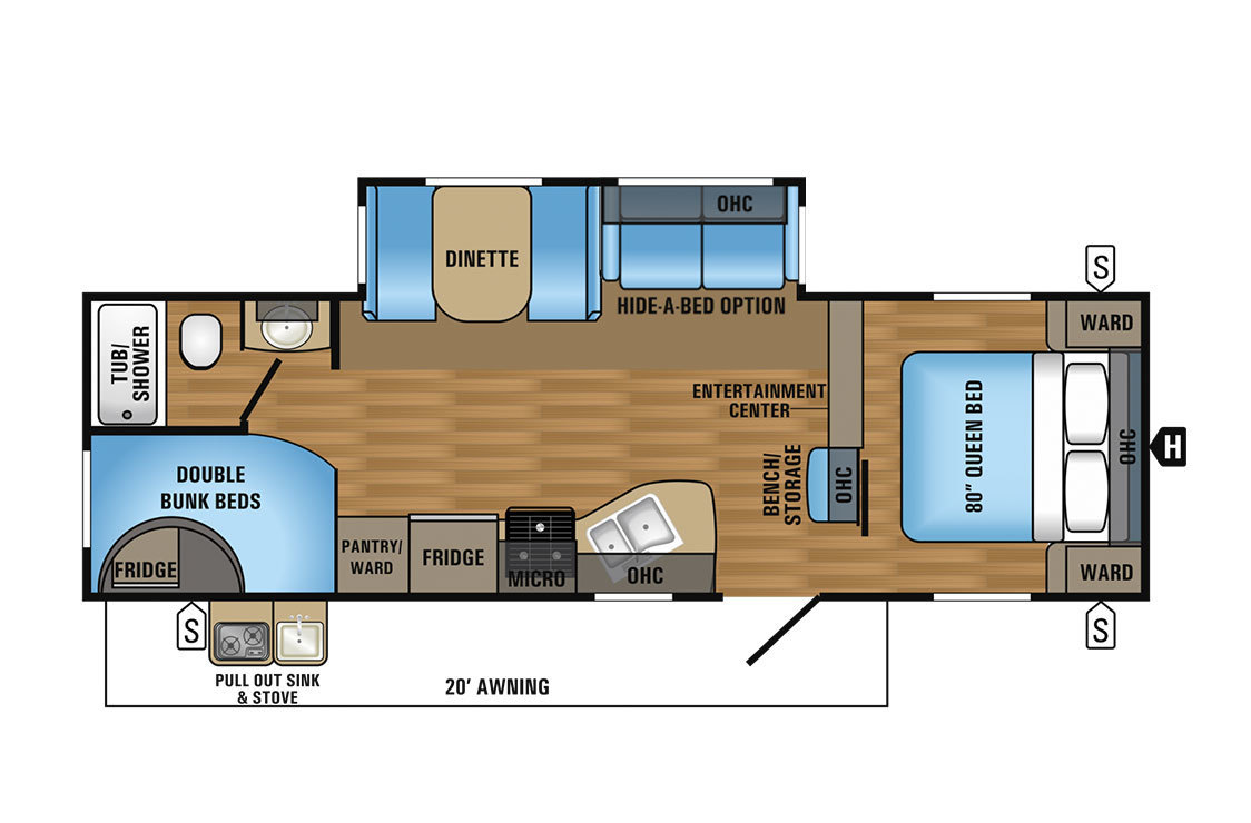 2017 Jayco Jay Flight 27BHS Elite GL Floorplan