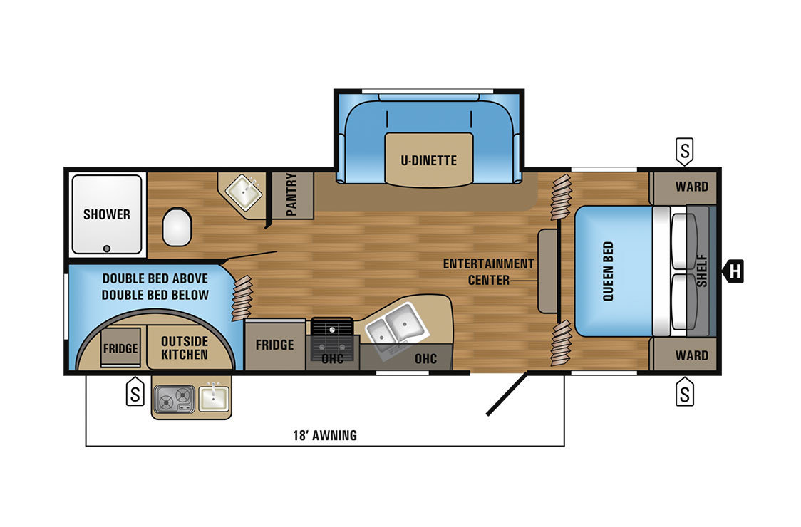 2017 Jayco Jay Flight SLX 242BHSW BAJA Floorplan