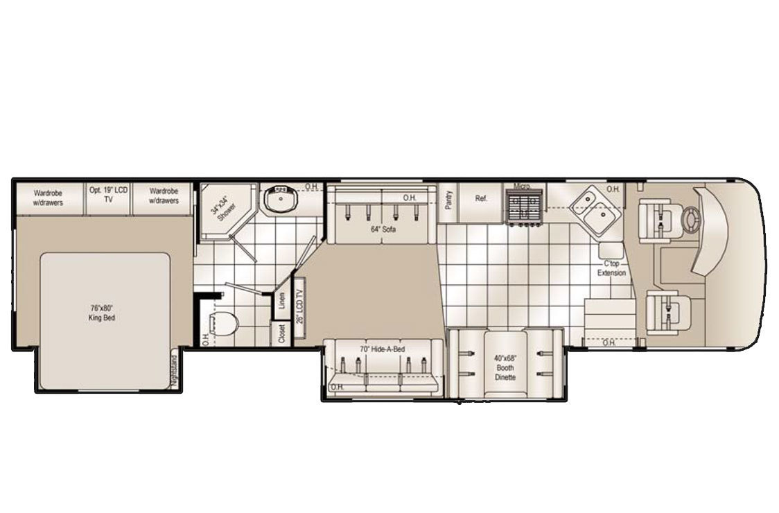 2008 Damon Daybreak 3578 Floorplan