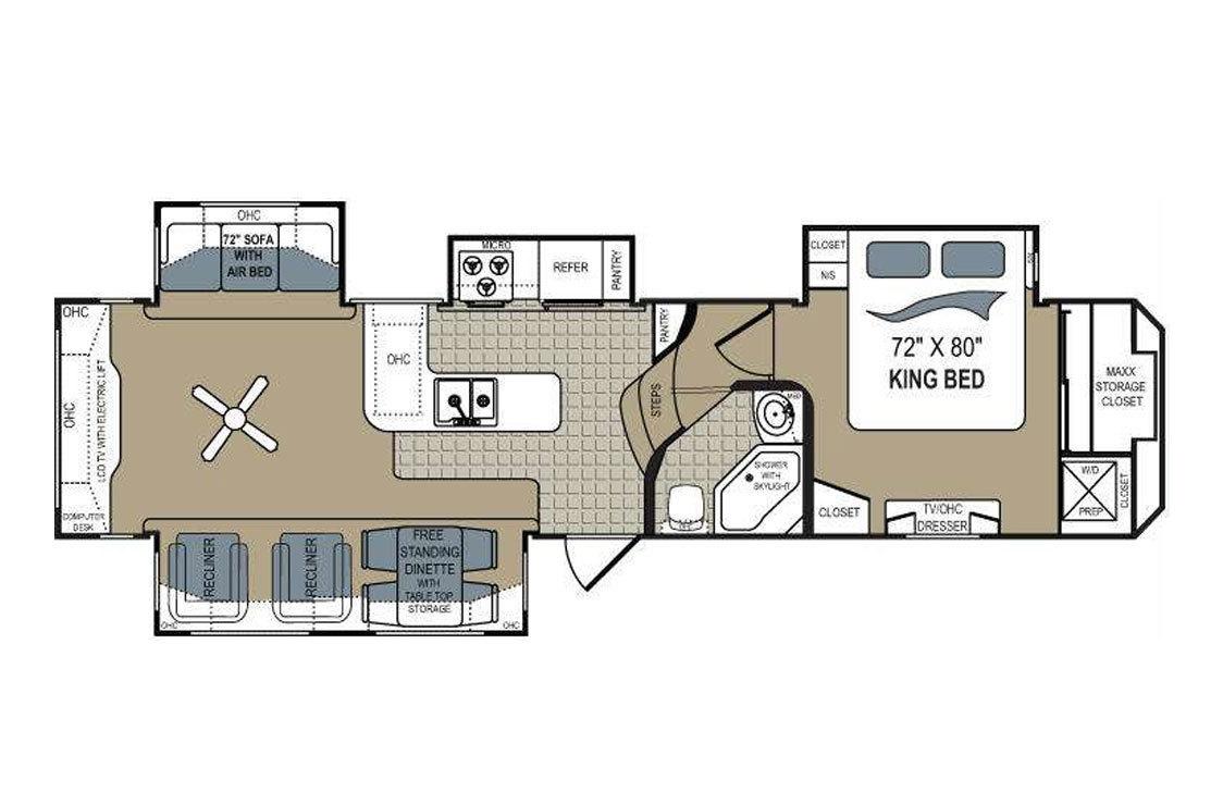 2011 Dutchmen Grand Junction 350RE Floorplan