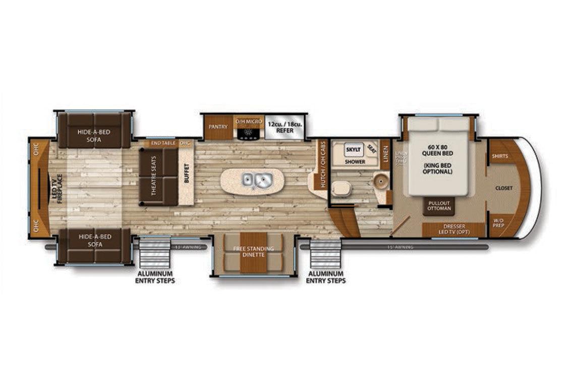 2016 Grand Design Solitude 375RE Floorplan