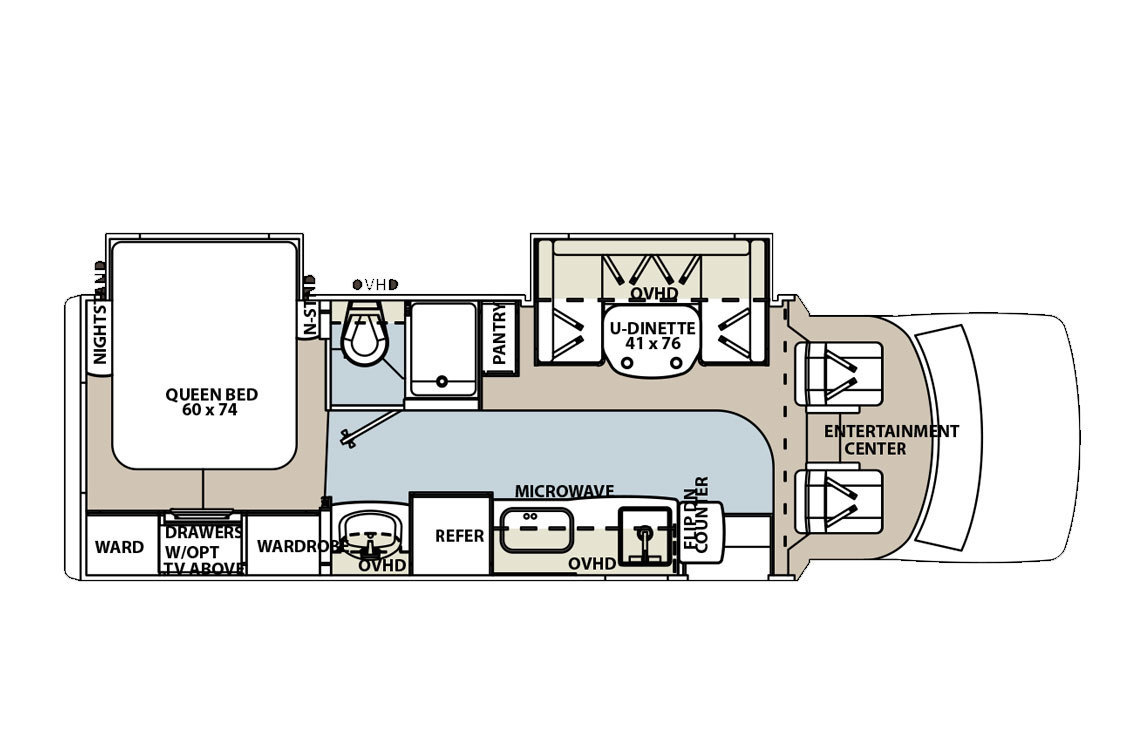 2011 Forest River Lexington 265DS Floorplan