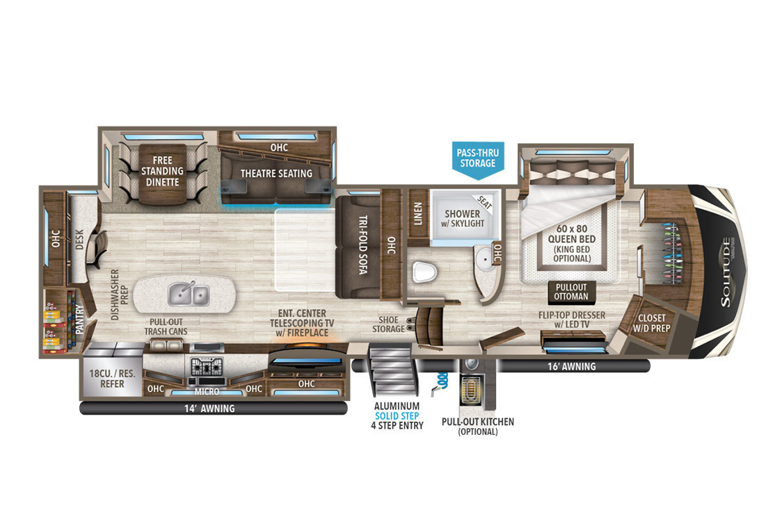 2018 Grand Design Solitude 344GK Floorplan