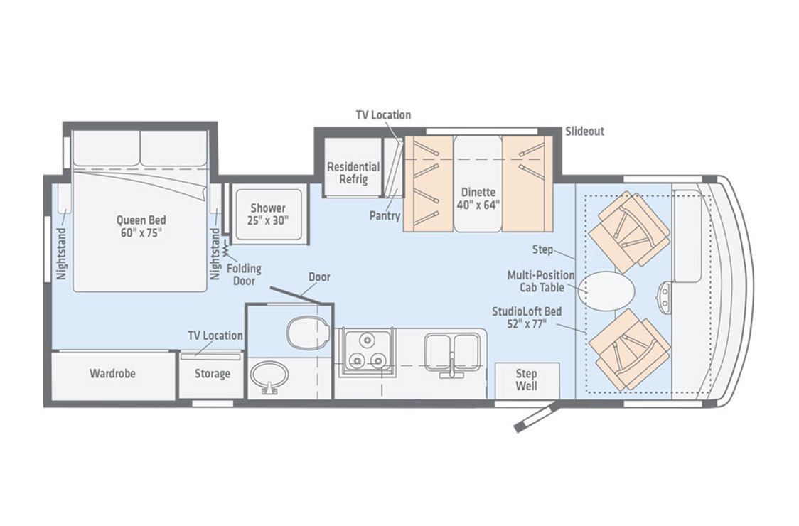 2018 Winnebago Intent 30R Floorplan