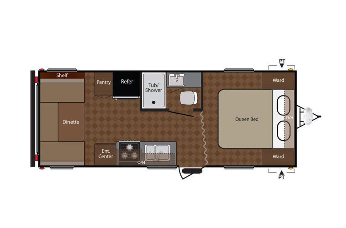 2018 Jayco Jay Flight SLX 212QBW Floorplan