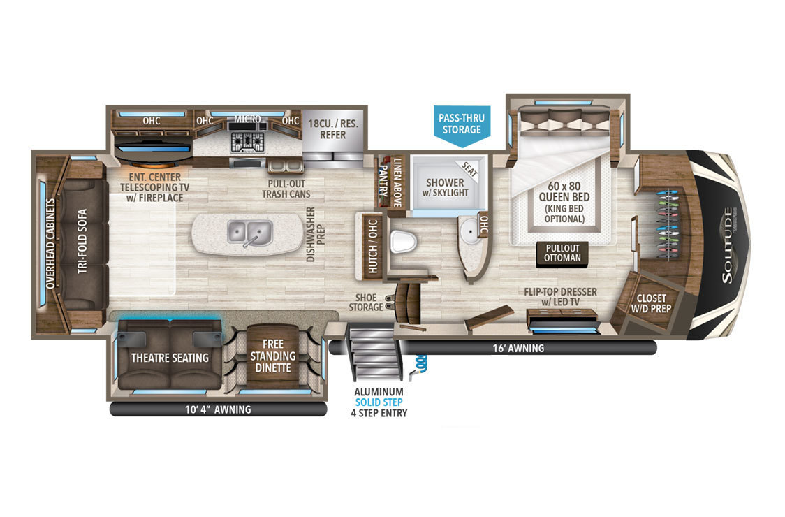 2018 Grand Design Solitude 344GK Floorplan