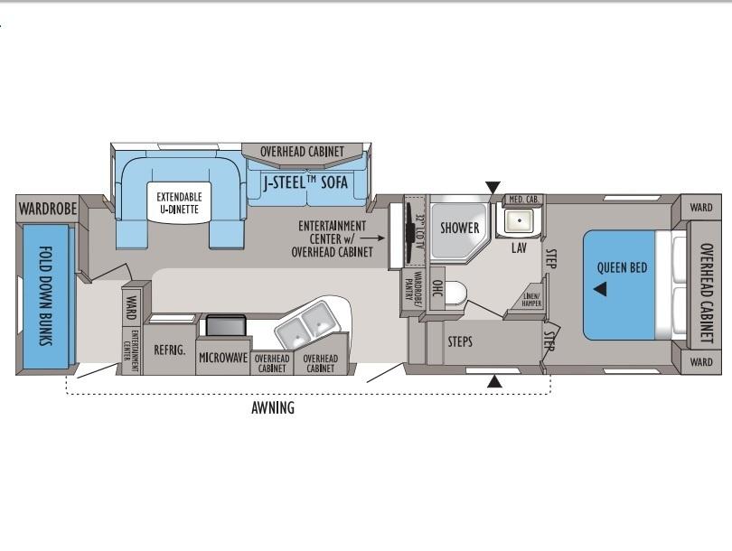 2010 Jayco Eagle SL 28.5BHS Floorplan