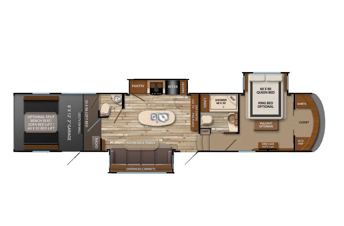 2015 Grand Design Momentum 385TH Floorplan