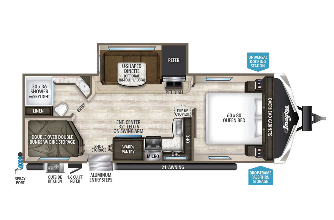 2018 Grand Design Imagine 2800BH Floorplan