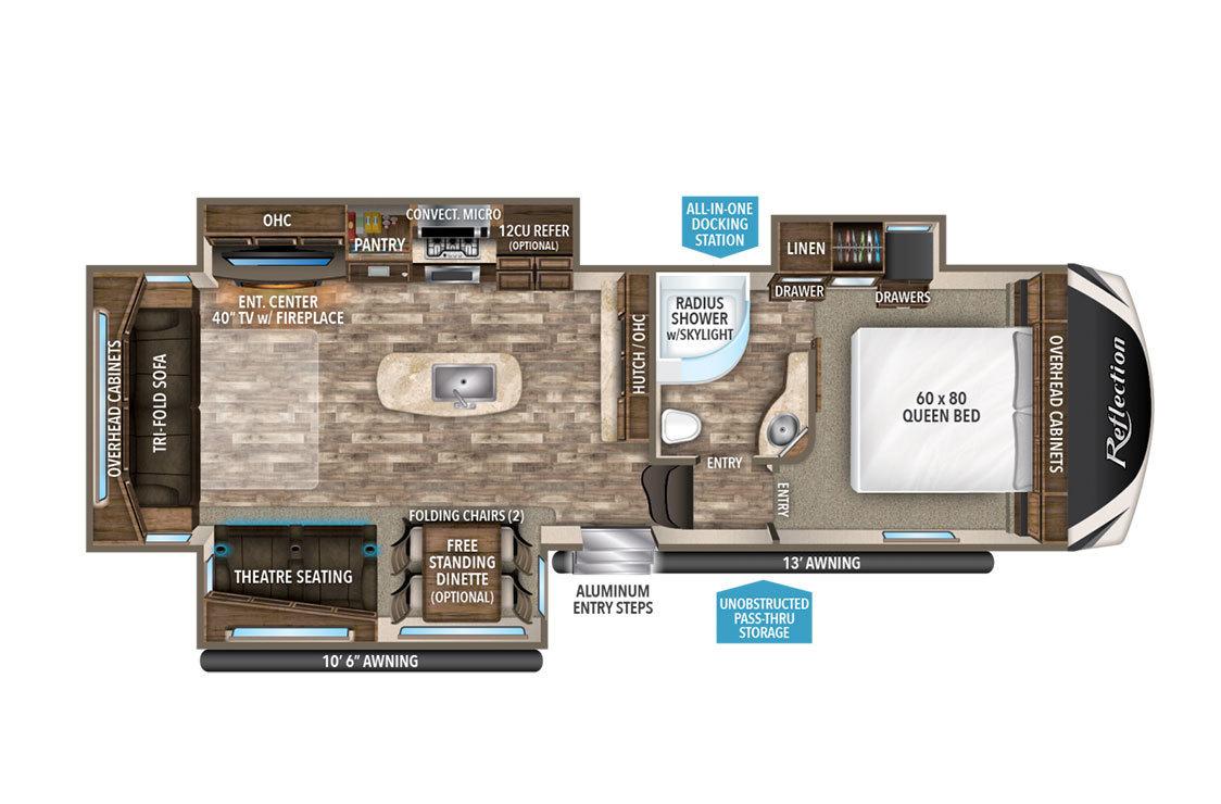 2018 Grand Design Reflection 303RLS Floorplan