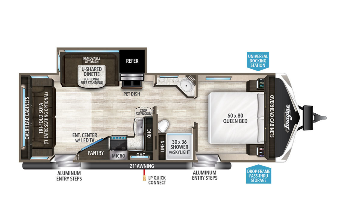 2017 Grand Design Imagine 2500RL Floorplan