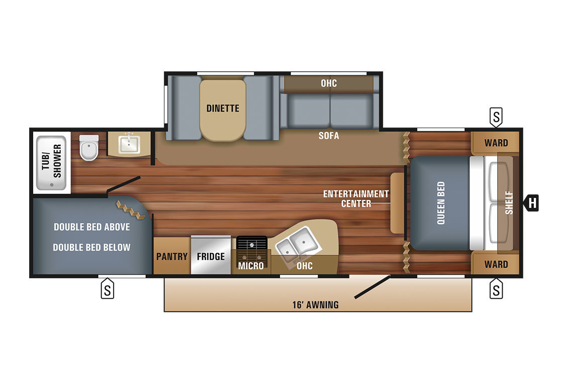 2018 Jayco Jay Flight  267BHSW Rocky Mountain Floorplan