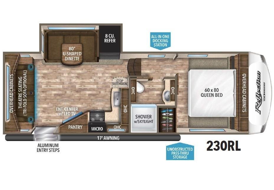 2018 Grand Design Reflection 150-Series 230RL Floorplan