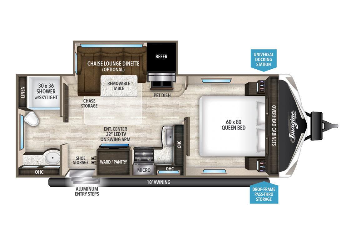 2018 Grand Design Imagine 2150RB Floorplan