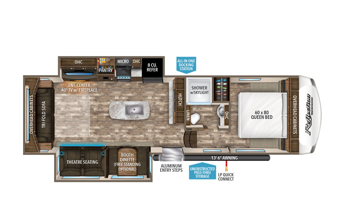 2015 Excel Winslow 34IKE Floorplan