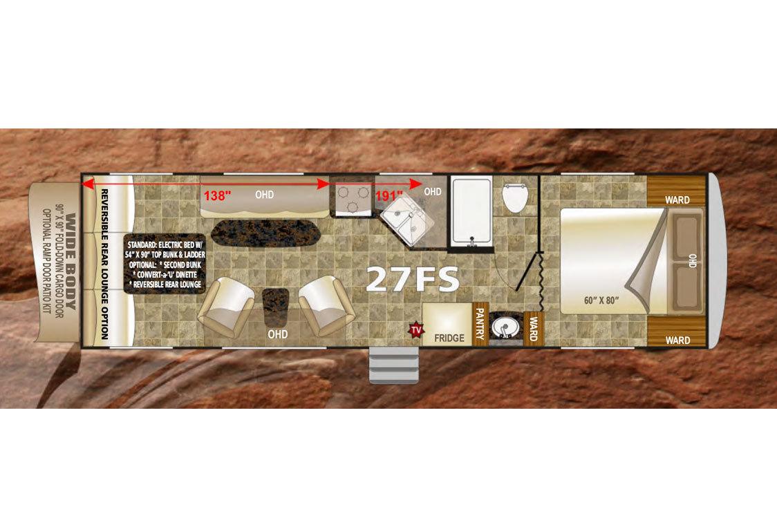 2015 Northwood Desert Fox 27FS Floorplan